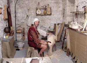 liutaio medioevale a san zenone degli ezzelini - falegname