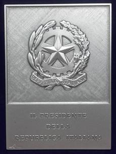 Presidente della Repubblica Italiana - targa argento per Academia Sodalitas Ecelinorum associazione storico culturale