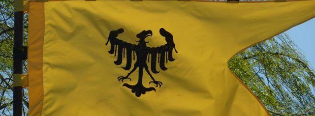 bellatores fedriciani nella terra di ezzelino 2016 bandiera