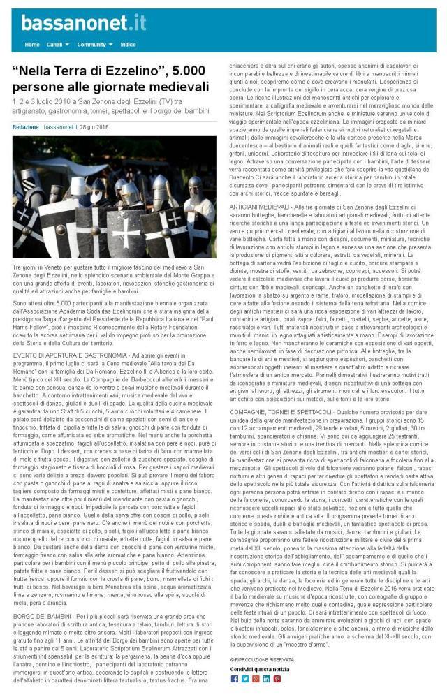 bassano.net articolo 28 giugno 2016 - nella terra di ezzelino